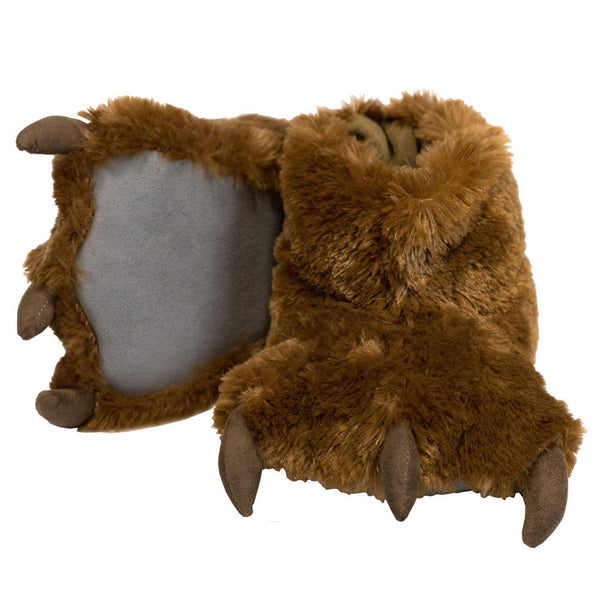 Brown Bear Paw Kids Slippers