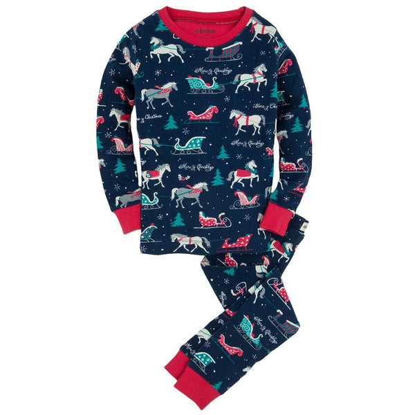 Sledding Horses Toddler Pajama Set
