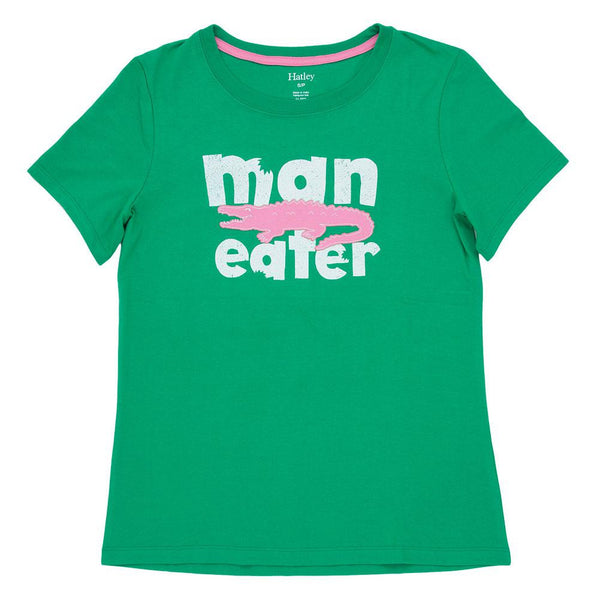 Man Eater Alligator Womens Pajama T-Shirt
