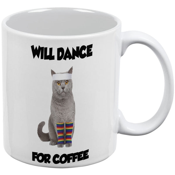 Will Dance For Coffee White All Over Coffee Mug