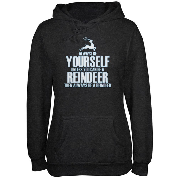 Christmas Always Be Yourself Reindeer Black Adult Hoodie