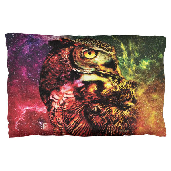 Galaxy Zen Wisdom Owl All Over Pillow Case