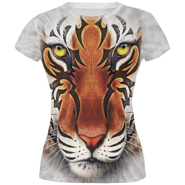 Tribal Tiger All Over Juniors T-Shirt