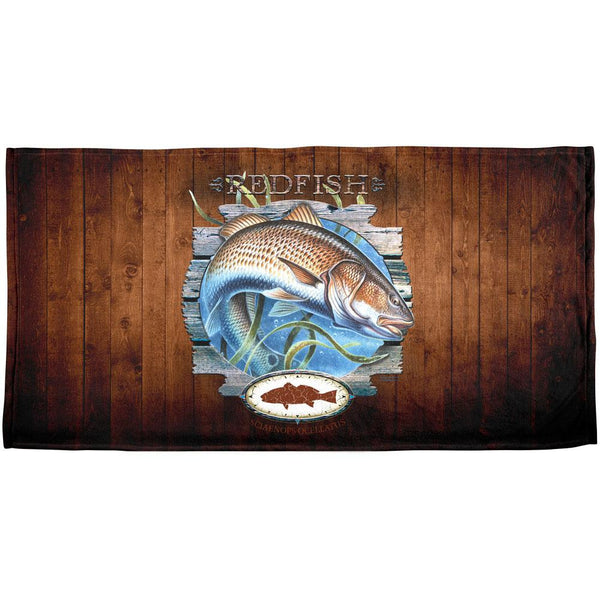 Red Fish Trophy All Over Beach Towel