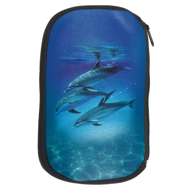 Three Dolphins Makeup Bag