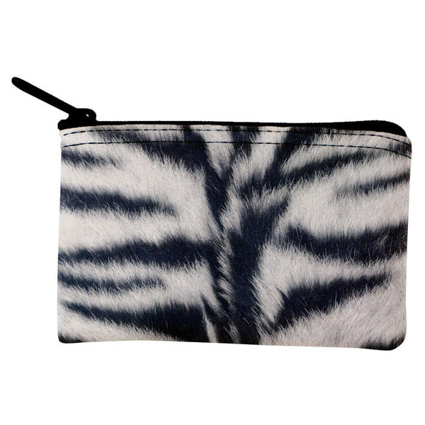 White Siberian Tiger Fur Coin Purse