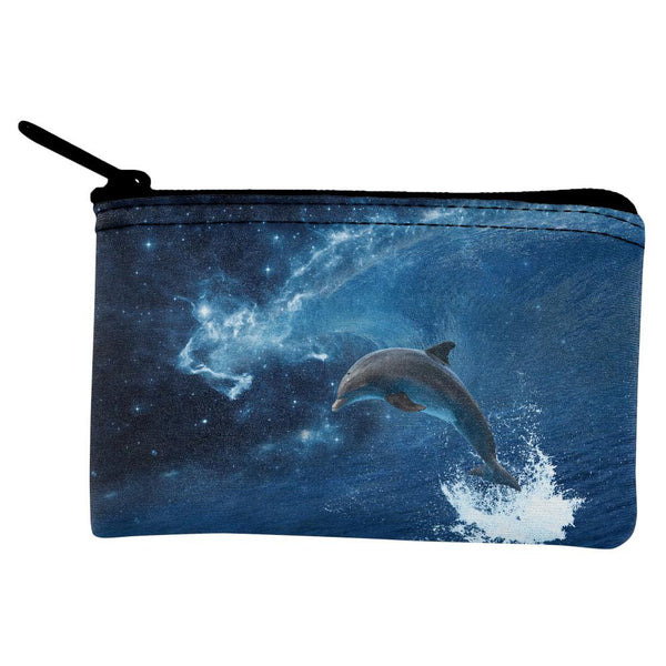 Dolphin IN SPACE Ocean Wave Coin Purse