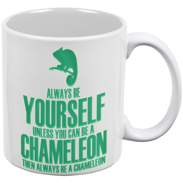 Always be Yourself Chameleon White All Over Coffee Mug Set Of 2