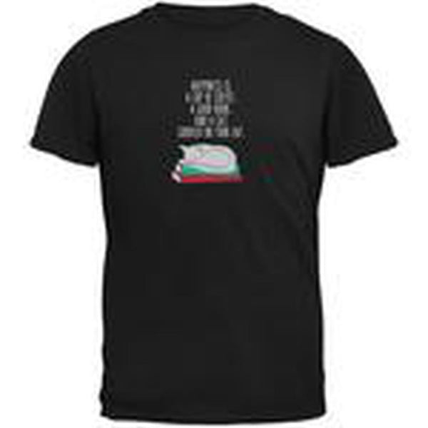 A Good Book and My Cat Black Adult T-Shirt