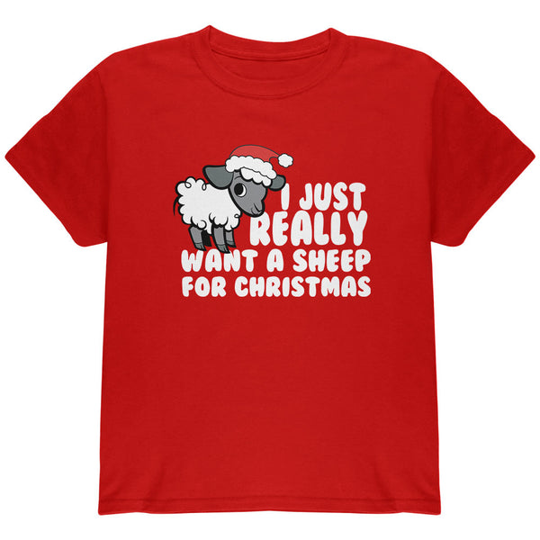 I Just Really Want a Sheep For Christmas Toddler T Shirt