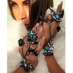 2017 Trendy Crystal Finger Bracelet - SALE LAB