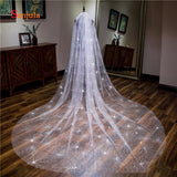 Dazzling Bridal Veil with Comb - SALE LAB