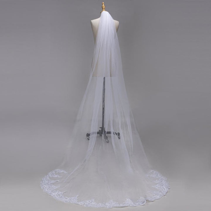 3 Meter Lace Edge Long Wedding Veil - SALE LAB