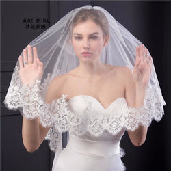 Sparkling Two Layer Lace Veil - SALE LAB