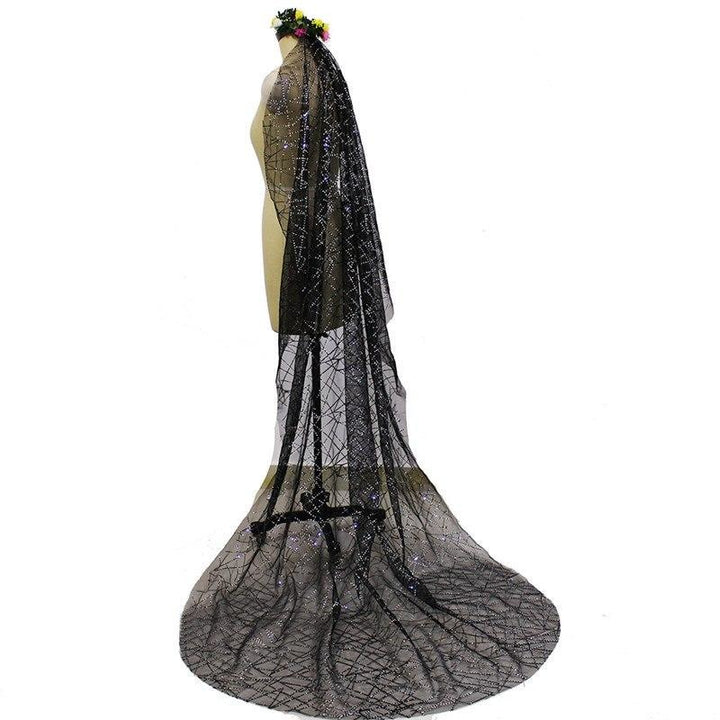 Sparkling Chapel Bridal Veil with Comb - SALE LAB