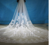 Long Wedding Veil White, Ivory Cathedral Lace Bridal Veil With Comb Wedding Accessories