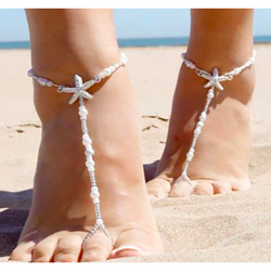 2 Pcs Starfish Barefoot Sandals - SALE LAB