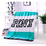 Pink & VS Fleece Blanket - SALE LAB