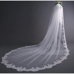3 Meters off White Cathedral Wedding Veil - SALE LAB