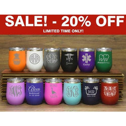 Stemless Wine Cups - SALE LAB