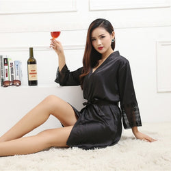 Silk & Satin Robe - SALE LAB