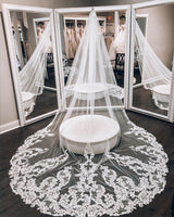 Chapel Length Bridal Veil