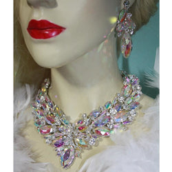 Marquise Crystal Necklace Earring Set - SALE LAB