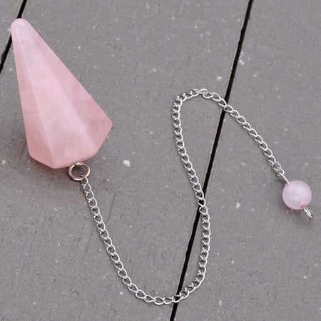 Natural Stone Crystal Wicca Pendulum - SALE LAB