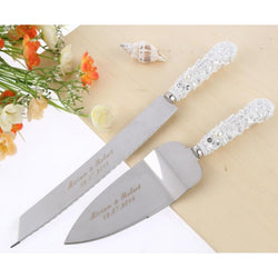 Personalized Wedding Cake Knife Serving Set - SALE LAB