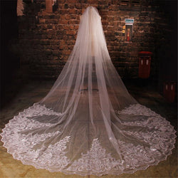 Cathedral Sequins Lace Veil