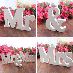 3 Pcs Mr & Mrs Sign - SALE LAB