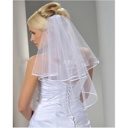 2 Layer Ribbon Edge Veil - SALE LAB