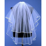 2 Layer Ribbon Edge Veil - SALELAB
