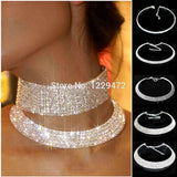 Silver Plating  Rhinestone Necklace - SALE LAB