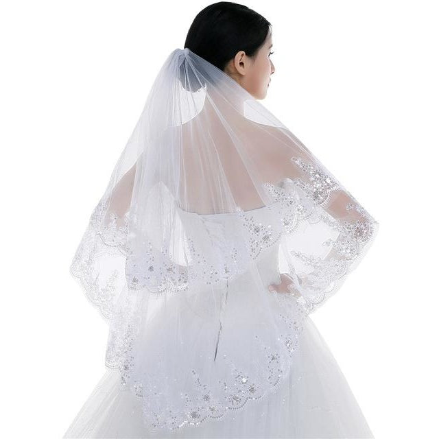 Two Layers Wedding Veil - SALE LAB