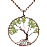 Tree Of Life 7 Chakra Healing Necklace Pendant - SALE LAB