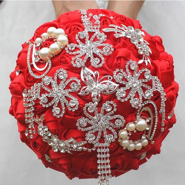 Silk Brooch Bouquets - SALE LAB