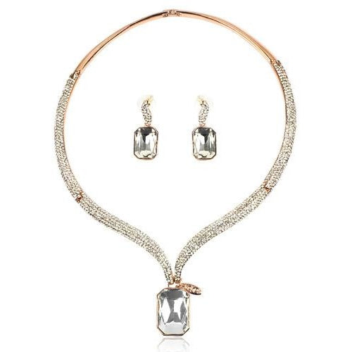Bridesmaid Crystal Necklace & Earrings Set - SALE LAB
