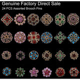 24 PCS  Crystal Brooches for Bouquet Decoration - SALE LAB