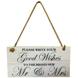 Mr & Mrs Sign Board - SALE LAB