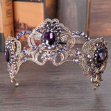 Purple Crystal Wedding Tiara - SALE LAB