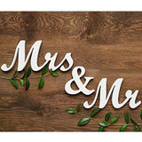 Mr and Mrs Wooden Sign - SALE LAB