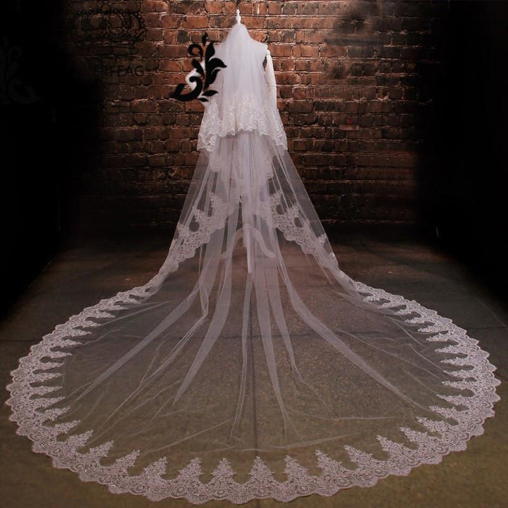 3.5 Meter Sparkling Cathedral Veil with Comb - SALE LAB