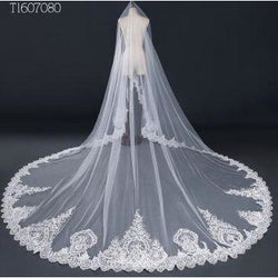 3.5  Meter Lace Edge Bridal Veil - SALE LAB