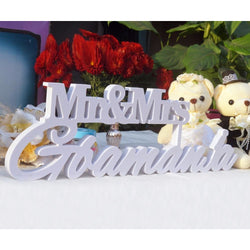 Custom  Mr and Mrs LAST NAME Sign