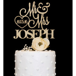 Mr & Mrs Custom Cake Topper - SALE LAB