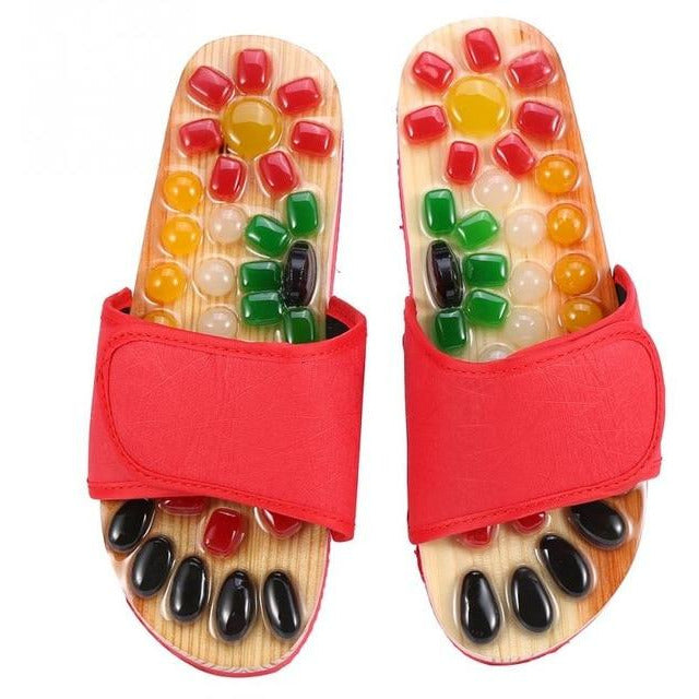 Natural Stone Reflexology Slippers - SALE LAB