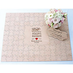 Rustic Puzzle Guests Book - SALE LAB