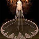 3.5 Meter Embroidered Bridal Veil - SALE LAB