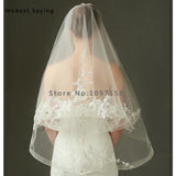 Elegant Two-Layer Beaded Veil - SALE LAB